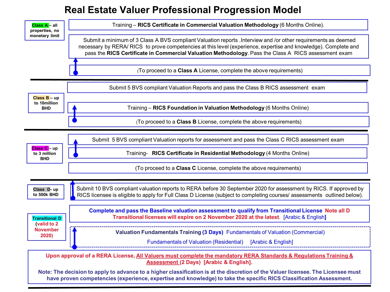 Real Estate Valuer Professional Progression Model
