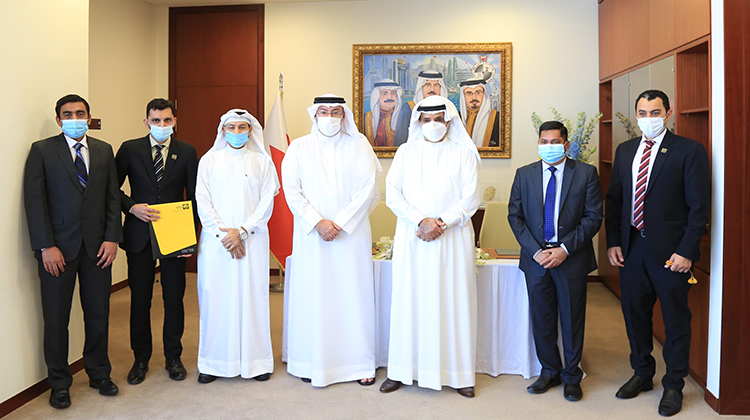 The signing of the Golden Gate agreement- His Excellency Shaikh Salman bin Abdullah Al Khalifa...RERA interfered at the right time to assist the project His Excellency Shaikh Mohammed bin Khalifa Al Khalifa...we preserved the full amounts of all buyers